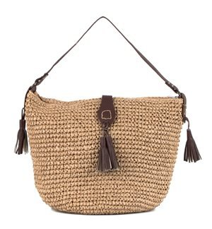 INCAMERA- Summer Bag with Polyskin Strips. Brown