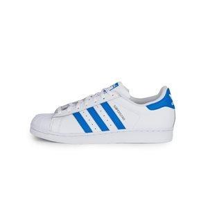 adidas Originals-Zapatillas Superstar Hombre Blanco/Azul