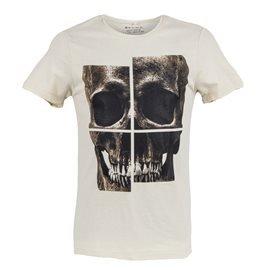 BLEND - Men's Skull T - Shirt. Beige