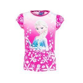 FROZEN - Camiseta manga Corta Frozen Junior Fucsia