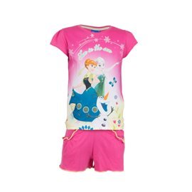 FROZEN - Conjunto Camiseta y Pantalón Fun in the Sun Junior Fucsia