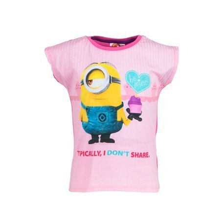 MINIONS - Kids' Love Minion T - Shirt. Pink