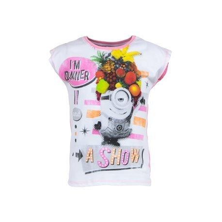 MINIONS - Kids' Minions T - Shirt. White/ Pink