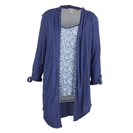 036EE1K036 430 BLUE FLOWER CARDIGAN T-SHIRTS