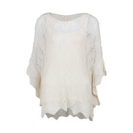 036EE1I007 295 CREAM BEIGE LACE SWEATERS