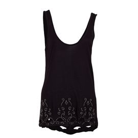 PEPE JEANS - Women's Sleeveless Angelas Top. Black
