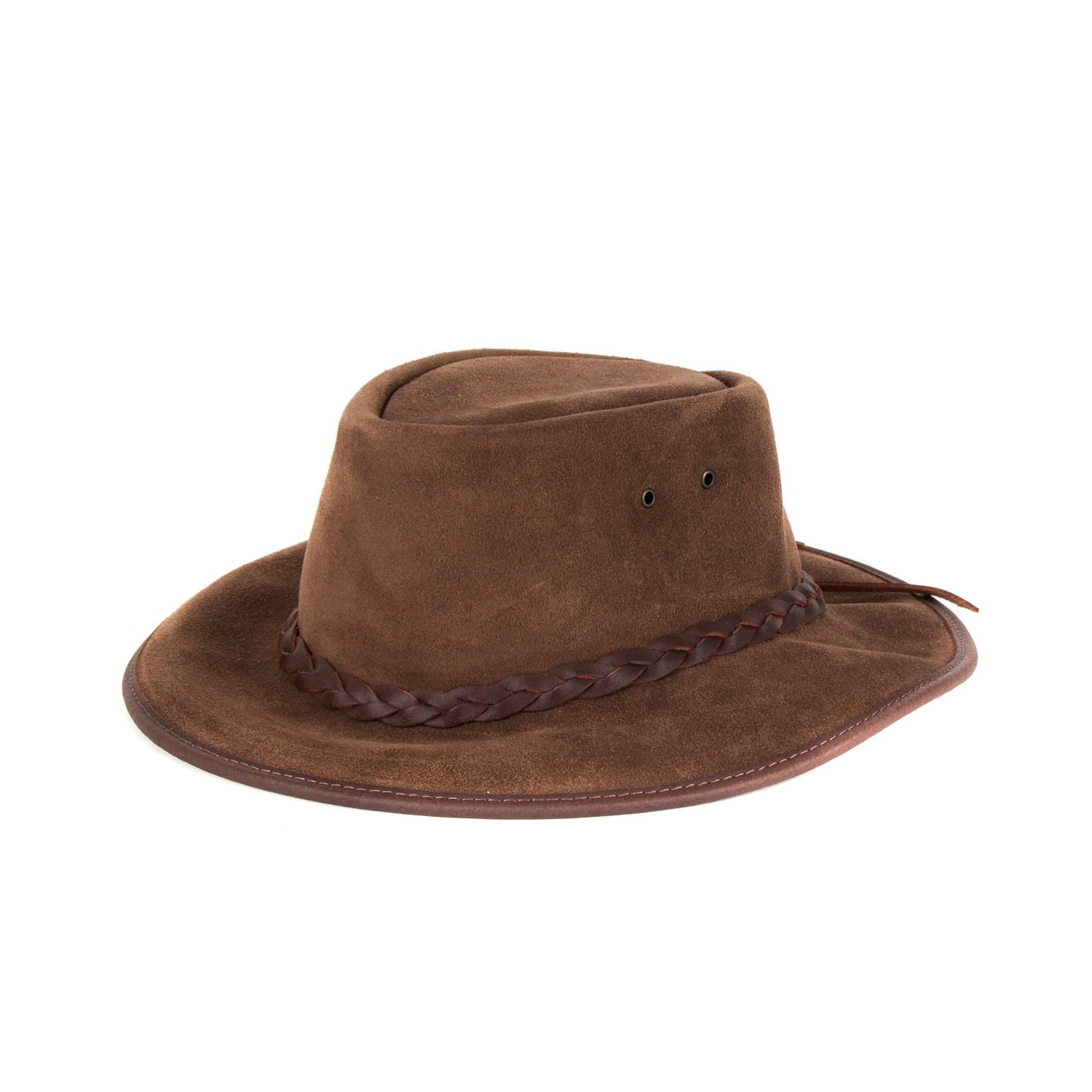 b5ac6ff82e2 MORGADO - Split Cowboy Leather Hat. Brown. Loading zoom
