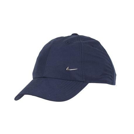 NIKE - Metal Swoosh Logo Peaked Cap. Navy Blue