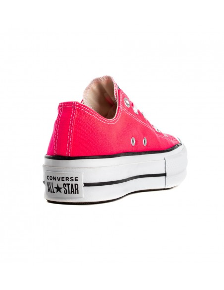 565501C RACER PINK/WHT/BLACK ALL STAR CLEAN LIFT-OX