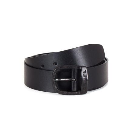 DIESEL - Cinturón Bawre Hombre Negro