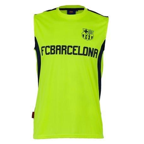 FC BARCELONA - Camiseta sin mangas Training 16 FCB Hombre Amarillo Fluor/Azul Marino