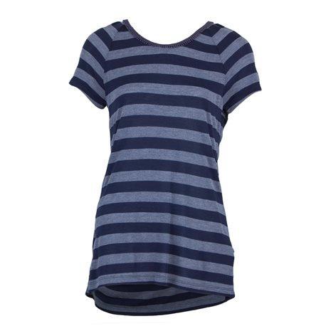 EDC - Camiseta de manga corta con escote en la Espalda Mujer Azul/Gris