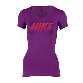 NIKE - Camiseta con mangas Training Mujer Morado