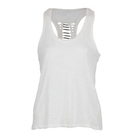 ONLY - Women's Tank Top with details at the Back. Off - White