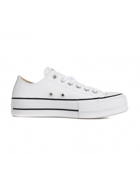 561680C WHT/BLK/WHT CHUCK TAYLOR ALL STAR LIFT CLEAN WHT/BLK