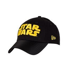 STAR WARS WORD BLACK YELLOW 9 FORTY