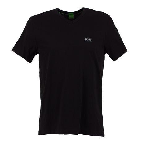 """BOSS Green - """"Tee Vn"""" Men's Black T - Shirt"""