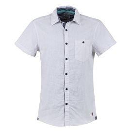 EDC - Camisa de manga corta Lino Hombre Blanco