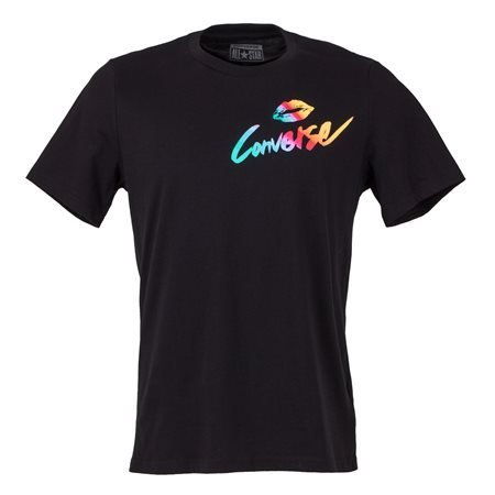 CONVERSE - Camiseta de manga corta Kiss Hombre Negro