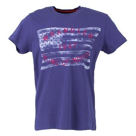 WRANGLER - Camiseta de manga corta Flag Tee Hombre Azul