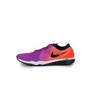 NIKE - Zapatillas Dual Fusion TR 4 Print Mujer Violeta/Naranja Fluor