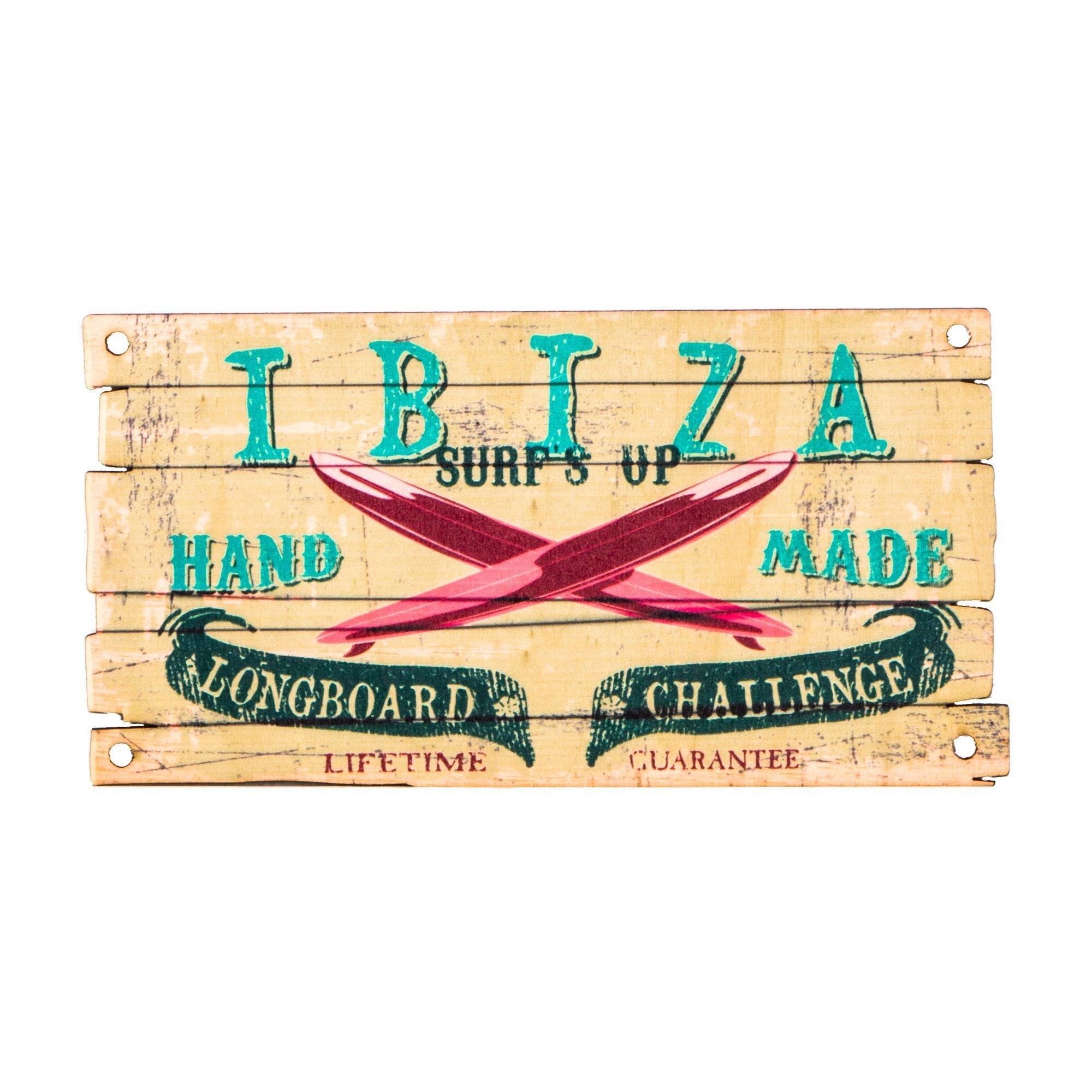 Ibiza placa de madera surf - Placa de madera ...