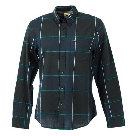 LEE - Men's L880ZKML Long Sleeve Shirt. Navy Blue