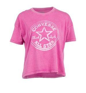 CONVERSE - Camiseta de manga corta 13842C Chuck Taylor Mujer Rosa