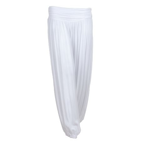 MERHABA IBIZA - Women's Long Baggy White Trousers
