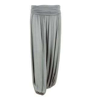 MERHABA IBIZA - Women's Long Baggy Trousers. Grey