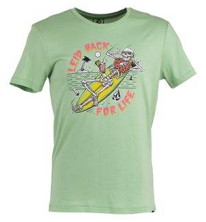 VOLCOM - Camiseta de manga corta Leid Back Hombre Verde