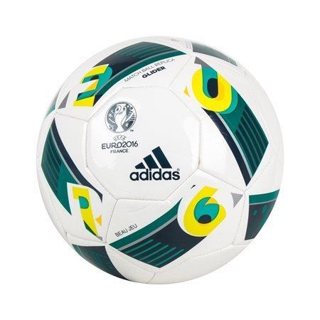 adidas Performance - Balón Glider Beau Jeu Euro2016 Blanco/Verde