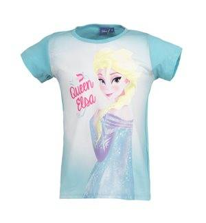FROZEN - Camiseta de manga corta Queen Elsa Junior Azul