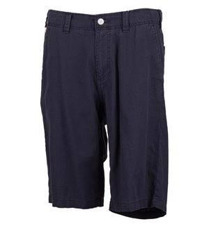 ESPRIT - Bermudas de algodón y lino Hombre Azul Marino