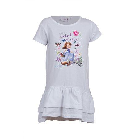 SOFIA - Kids' Petal Perfect Short Sleeve Dress. White